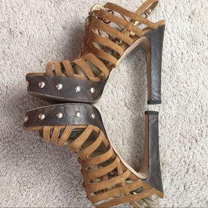 Stuart Weitzman Shoes - Stuart Weitzman suede lace up front heels
